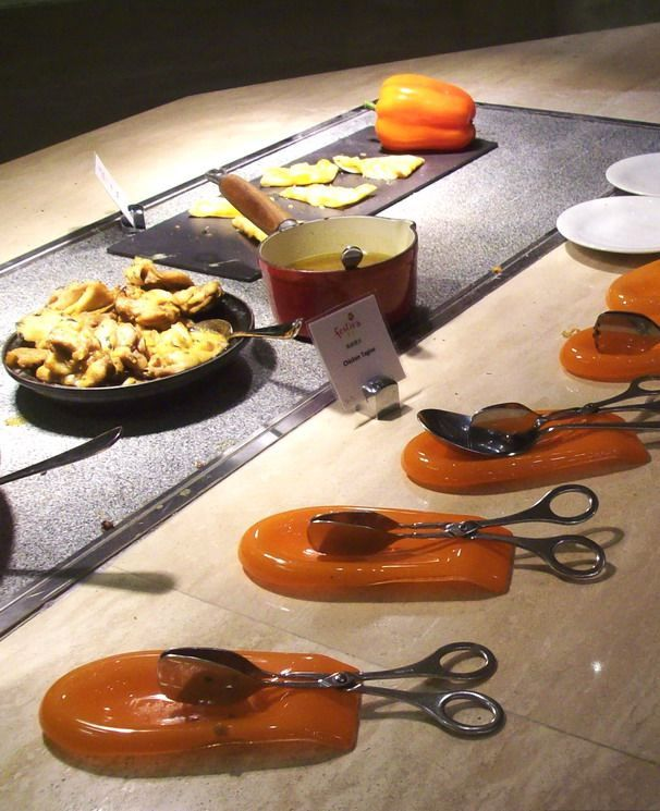 "tabletop concepts, ""spoon rest"", ""cutlery rest"", ""spoon holder"", ""Glass Studio"", ""Festiva"", ""Galaxy Macau"""