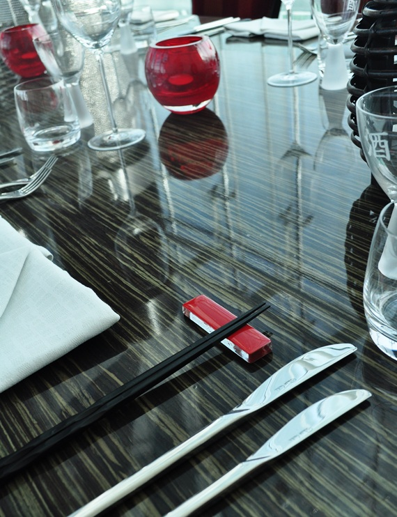 """chopstick rest"", ""cutlery rest"", ""japanese dinnerware"", ""sushi dinnerware"", ""Glass Studio"", ""Rouge"", ""Rocco Forte Abu Dhabi"""