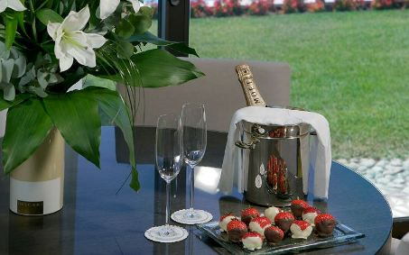 fruit amenity, amenity plate, strawberries and champagne, welcome amenity, vip amenity, guest room amenity, Glass Studio, Hotel Nikopolis