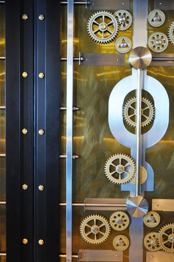 Vault, vault door, bar and lounge, JW Marquis Dubai