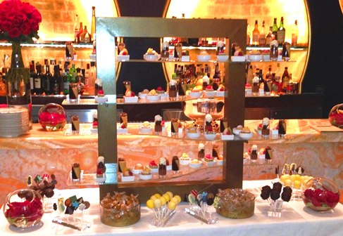 buffet centerpiece, buffet display, buffet stand, buffet elevation, dessert display, buffet dessert section, buffet dessert stand, Glass Studio, Wynn Las Vegas