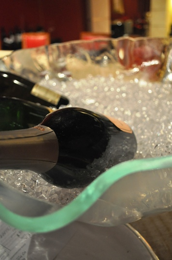 champagne tub, ice tub, glass champagne bucket, champagne service, champagne cooler, Glass Studio